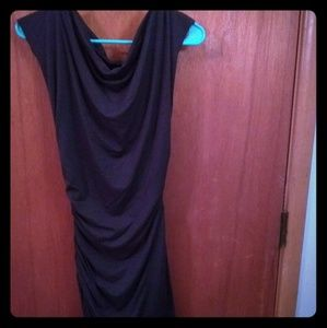 runched w/ cowl neck dress